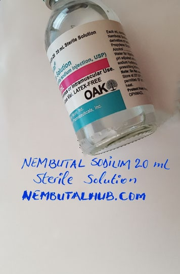 Buy nembutal sodium 20ml sterile solution