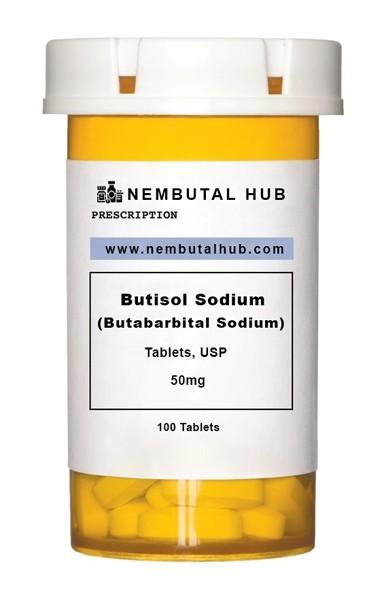 Buy Butabarbital Sodium 50 mg tablets - Butisol Sodium 50 mg tablets